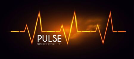 Heart pulse. Healthcare and medical shining design. Life. Ilustrace