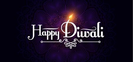 Diwali Festival design template. Holiday poster with light effect. 일러스트