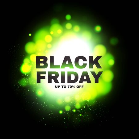 Black friday. Powerful Explosion. Sale banner design template.