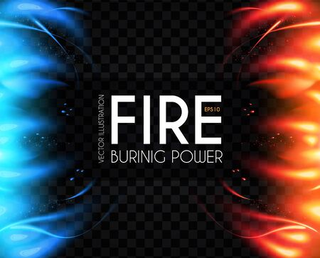 Burning fire abstract background. Flame power. Light effect. Screen design. Versus