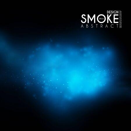 Brouillard, brume et nuages de vapeur de fumée. Effet transparent. Conception de profondeur.