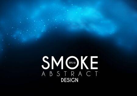 Mgła, mgła i dym tworzą chmury pary. Przezroczysty efekt. Projekt głębokości.