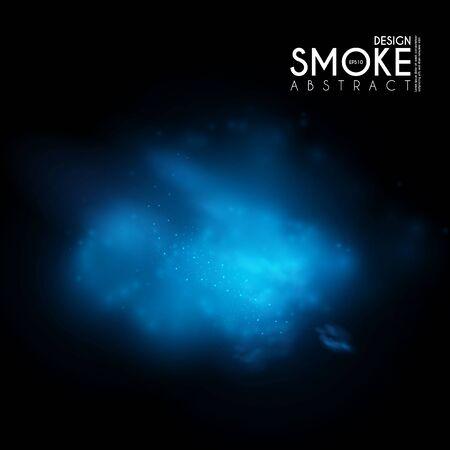Fog, mist and smoke steam clouds. Transparent effect. Depth design.