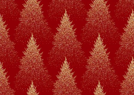 Christmas seamless pattern with fir trees. Coniferous forest.