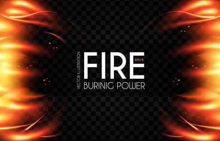 Burning fire abstract background. Flame power. Light effect. Screen design.