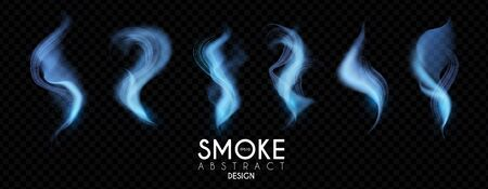 Smoke effects set. Mist wave collection. Magic waves.