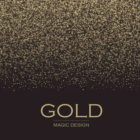 Gold Glitter Abstract Background. Soft Particles.