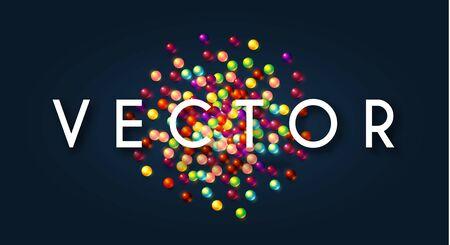 Colorful random balls background. Funny design. Falling spheres.