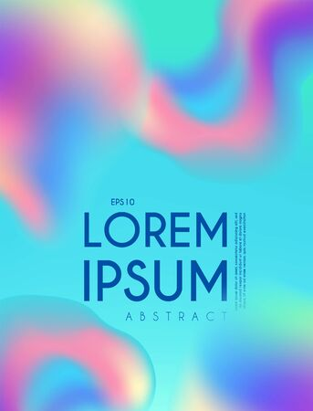 Liquid colors abstract background. Trendy fluid esign. Blend and blur.