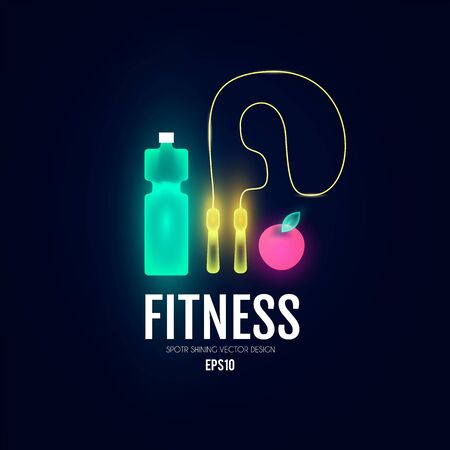 Fittnes and sport shining background. Shining equipment.