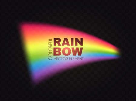 Rainbow wave on transparent background. Realistic spectrum color effect. Ilustração