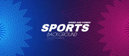 Abstract sport background with geometric elements. Light dynamic effect.