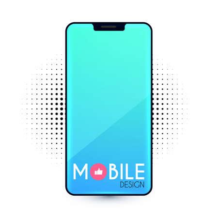 Smartphone Mockup. Realistic mobile phone display. Mobile phone template