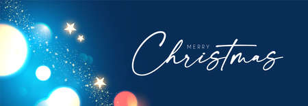 Merry Christmas abstract bokeh background with lights Illusztráció