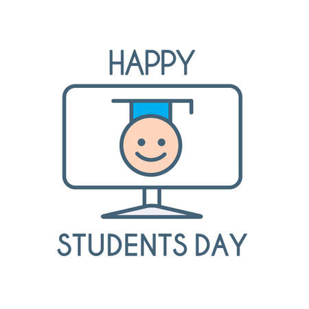 Happy students day Learning, graduate and education design.