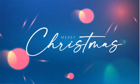 Merry Christmas abstract bokeh background with lights 向量圖像
