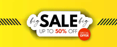 Big Sale design. Special offer poster template 矢量图像