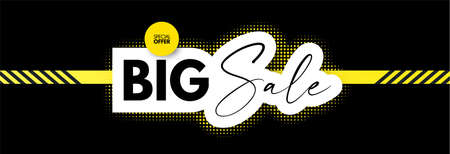 Big Sale design. Special offer poster template Ilustrace