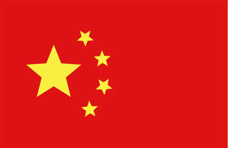 Chinese flag. National symbol fo China. Vector