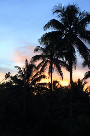 Beautiful sunset in Manus Island, Papua New Guinea