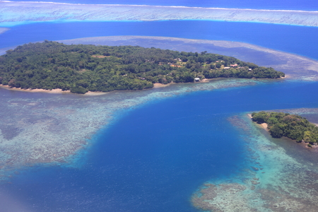 Beautiful Coral reefs coastline of Guadalcanal Island, Solomon