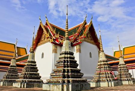wat: Stupas in Wat Pho (Wat Phra Chettuphon), Bangkok.Thailand