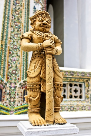 Guardian statues the Viharn Yod in Wat Phra Kaew, Bangkok, Thailand. Stock Photo - 10027897