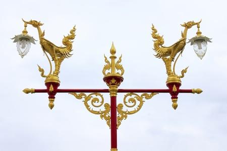 Couple swan lamp at Wat Mahathat, Bangkok, Thailand Stock Photo - 10178665