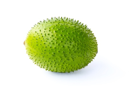 A Southeast Asian fruit, commonly know as Gac, Baby Jackruit, Spiny Bitter Gourd, Sweet Grourd or Cochinchin Gourd. Very delicious and medicinal properties photo