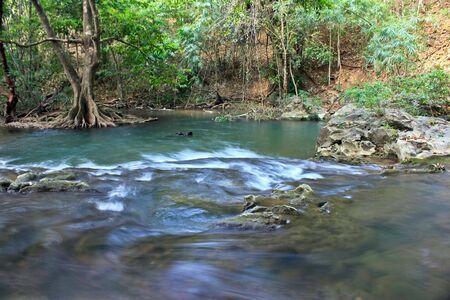 ecotourism: The natural hot springs in Kanchanaburi, Thailand