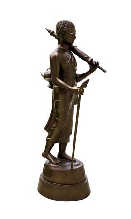 idolatry: An ancient Buddha statue made of stone at Wat Phra Kaeo in Bangkok, Thailand.
