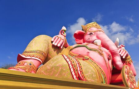 Sculpture of the Biggest Lord Ganesha in the world, Chachoengsao, Thailand  photo