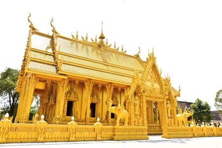 Beautiful Golden Thai chapel the only one in Thailand photo