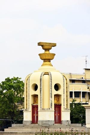 chilometro: Il Democracy Monument di Tailandia in Ratchadamnoen Avenue, dove si trova la National Highway Chilometri Zero