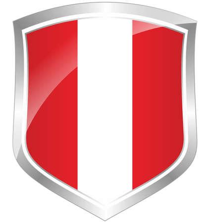 Austria flag shield