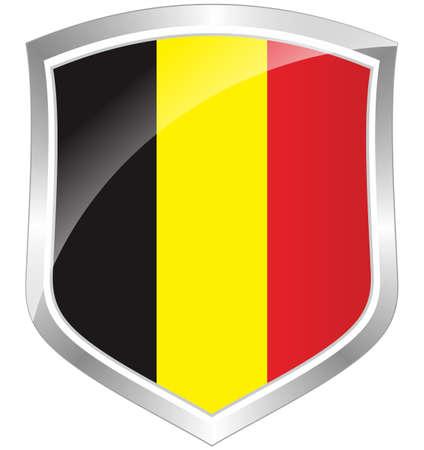 Belgium flag shield