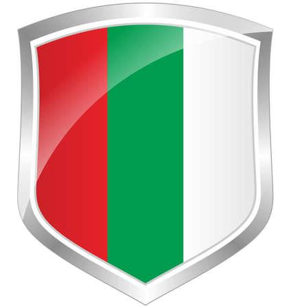 Bulgaria flag shield Stock Photo