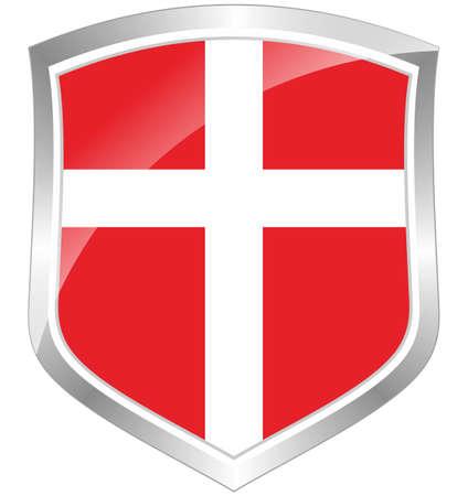 Danmark flag shield