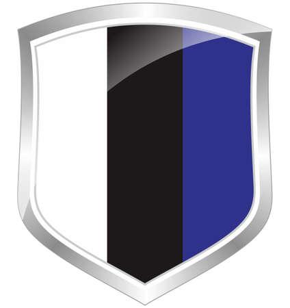 Estonia flag shield
