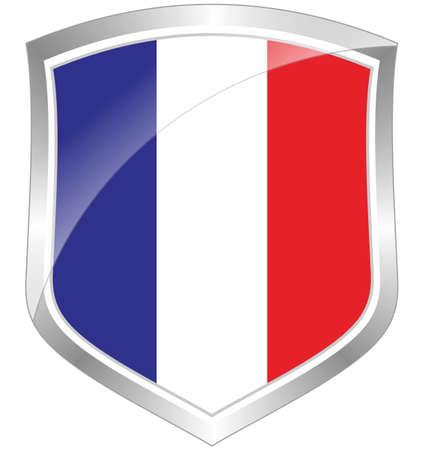France flag shield Stock Photo