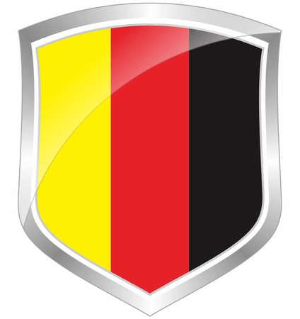 Germany flag shield Stock Photo