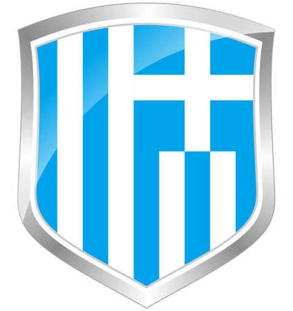 Greece flag shield