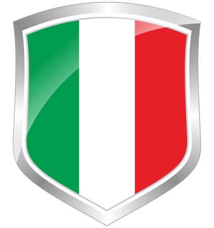 Italy flag shield