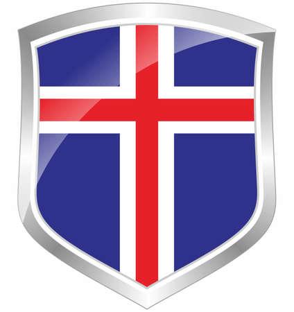 Iceland flag shield