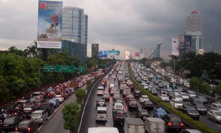 jakarta: traffic jam in Jakarta, Indonesia
