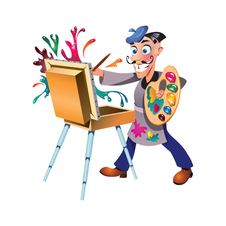 The artist which creates a masterpiece Stock Vector - 8835857