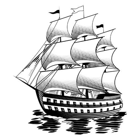 brigantine: Ship Illustration