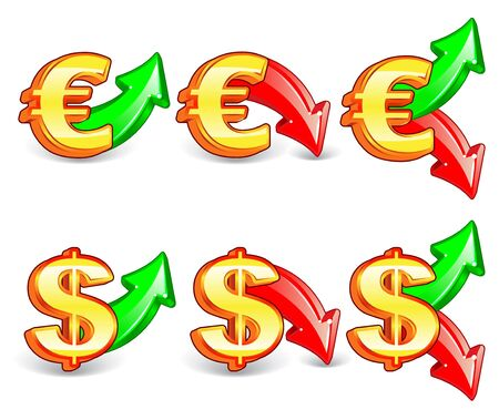 icon of exchange rate Illustration