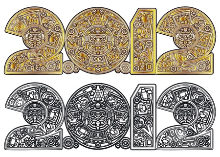 calendar: Stylized Aztec Calendar