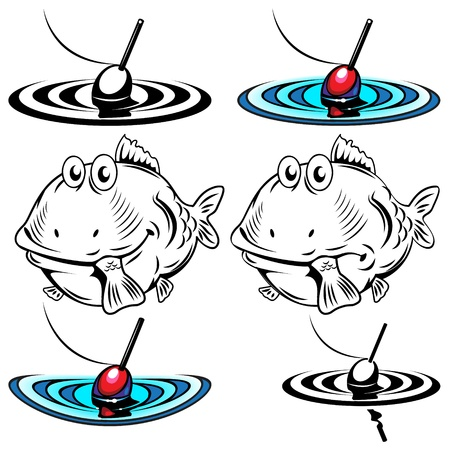 Illustrations of the two fish and floats